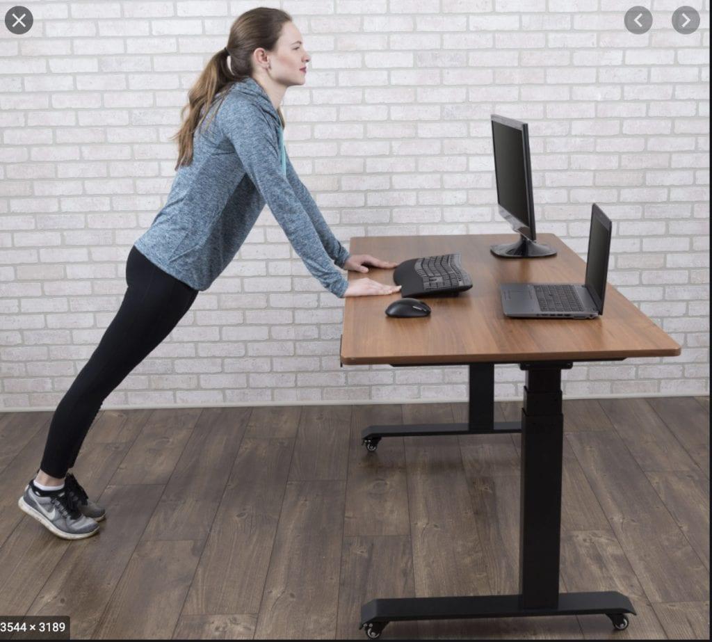 standing desk workout: Desk Push-Ups