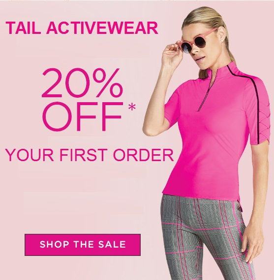 20% off first order Tail Activewear coupon