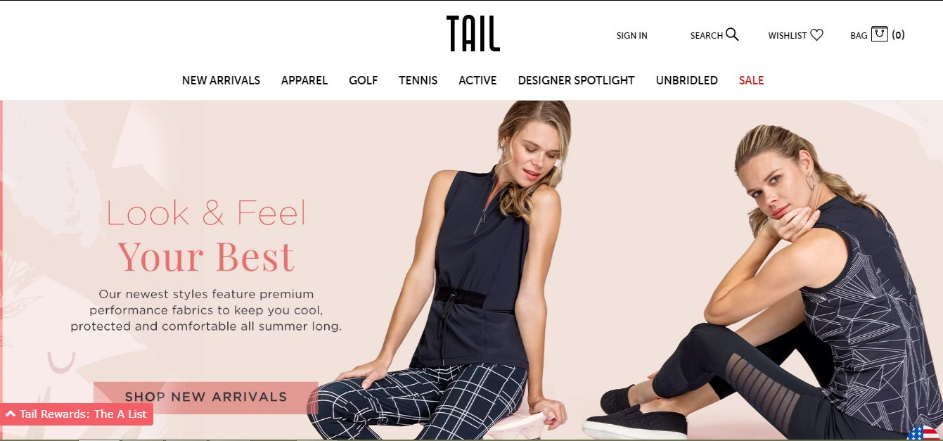 tail activewear items