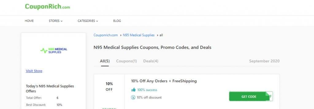 N95 Mask Medical Supplies: couponrich
