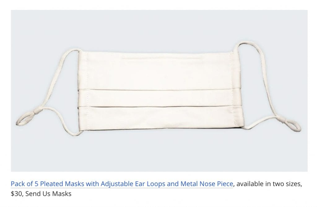 pack of 5 pleated masks