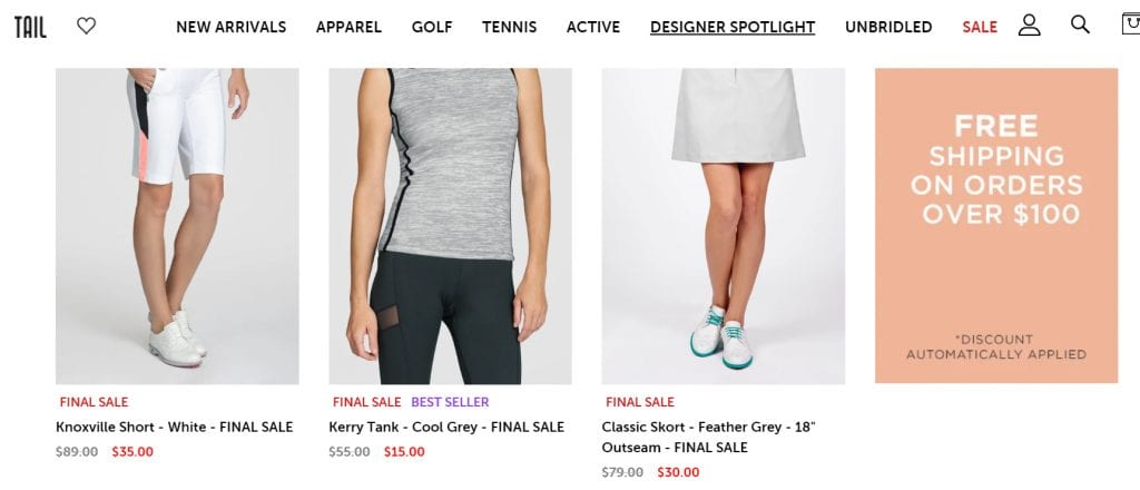 Tail Activewear final sale