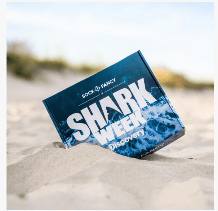 Shark Week Sock Box