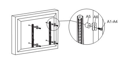 Fleximounts TV mount instructions - Step 2: Attach brackets to screen