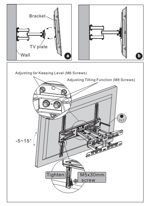 Fleximounts TV mount instructions - Step 3: Hang the TV onto the TV plate