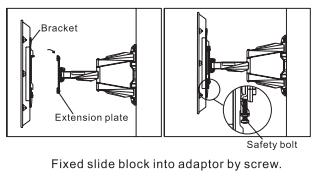 Step 6: Hang the TV onto the wall plate