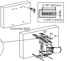 Fleximounts instructions - Step 1: Mounting on solid concrete