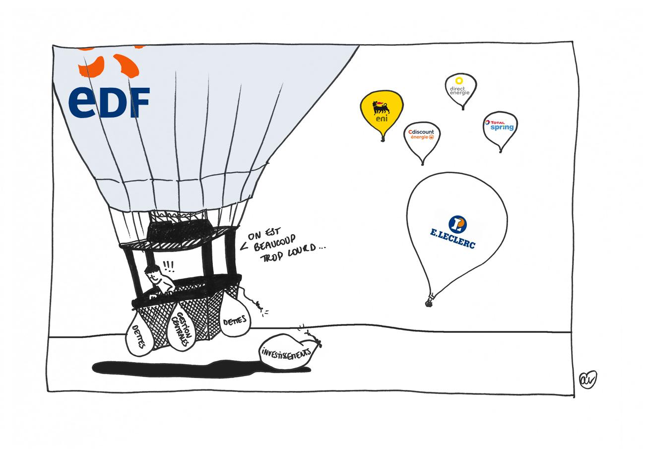 course energie EDF peine