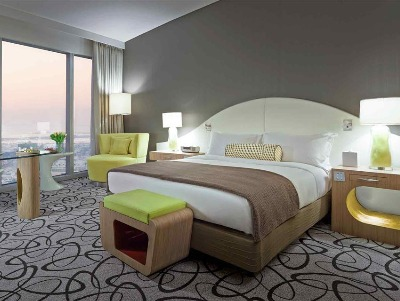 TWIN Luxury Room, Club Millésime Access, 2 Single Size Beds, Burj Khalifa View
