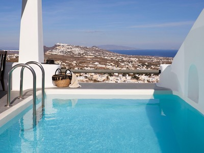 Astra Suite with Private Heated Pool and Panoramic Island View
