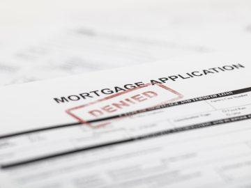 mortgage application denied