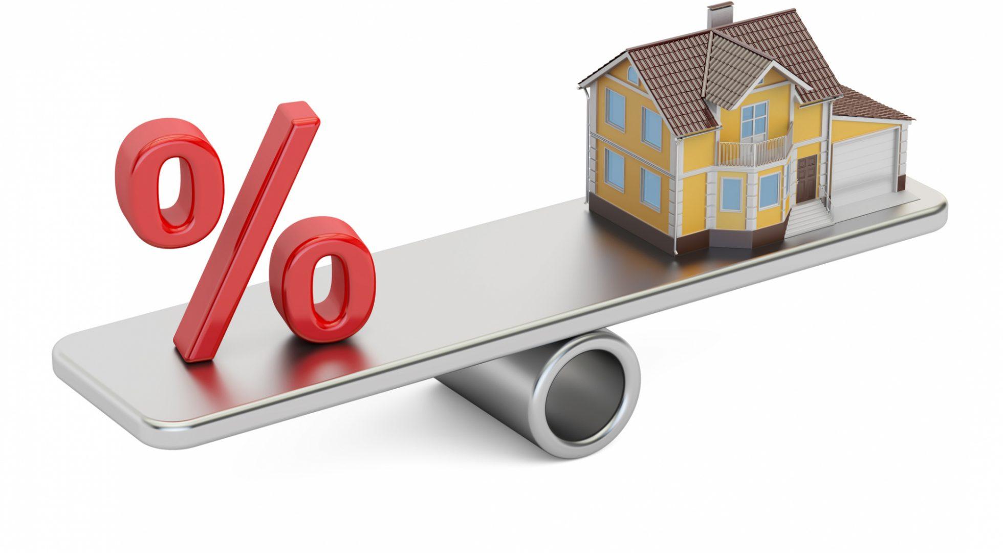mortgage rates percent sign