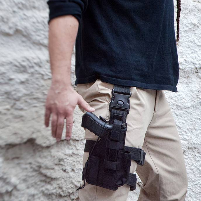 Nylon Tactical Holster w  Extra Mag