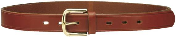 1.2'' Leather Gun Belt w. Brass Buckle