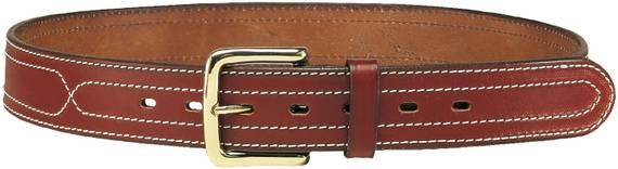1.5'' Leather Gun Belt w. Lateral Stitching
