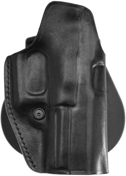 Leather Paddle Holster w Tension Screw