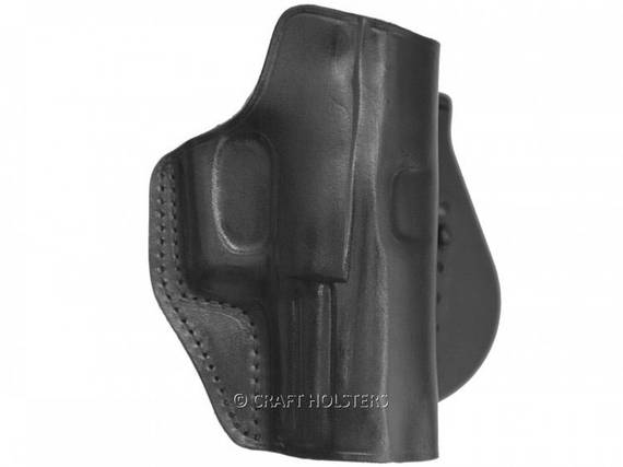 Open Top Leather Paddle Holster