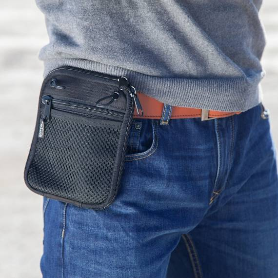 Belt Pouch With Concealed Gun Holster