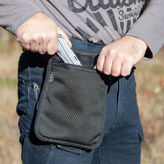 Belt Pouch with Paddle for Concealed Gun Carry
