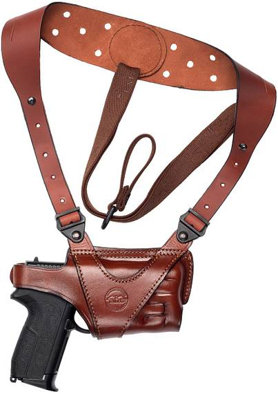 Horizontal Shoulder Holster for Gun w Light
