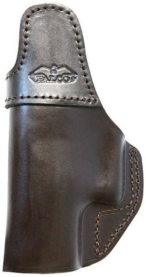 IWB Leather Holster with Clip, No Thumb Break