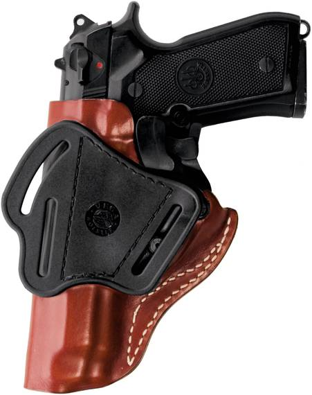 Leather Belt Holster with Automatic Safety System