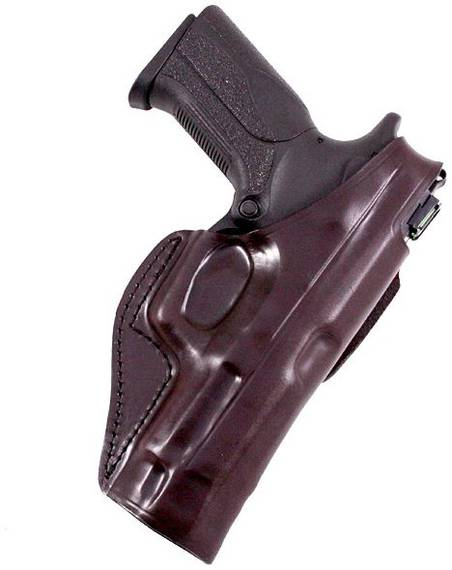 Leather Belt Holster with Belt Tunnel