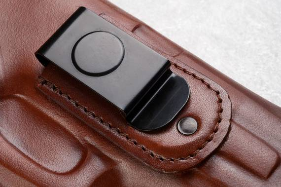 Leather IWB Holster with Steel Clip