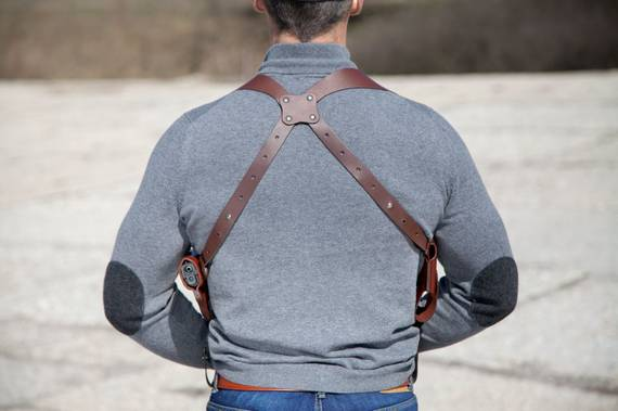 Leather Shoulder Holster System