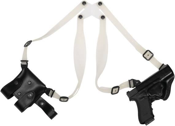 Leather Shoulder Holster with Transparent Harnesses