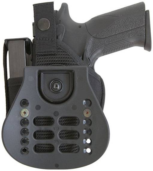 Nylon Paddle Holster with Extra Mag Pouch