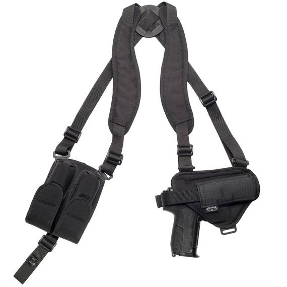 Nylon Shoulder Holster W. Double Mag Pouch