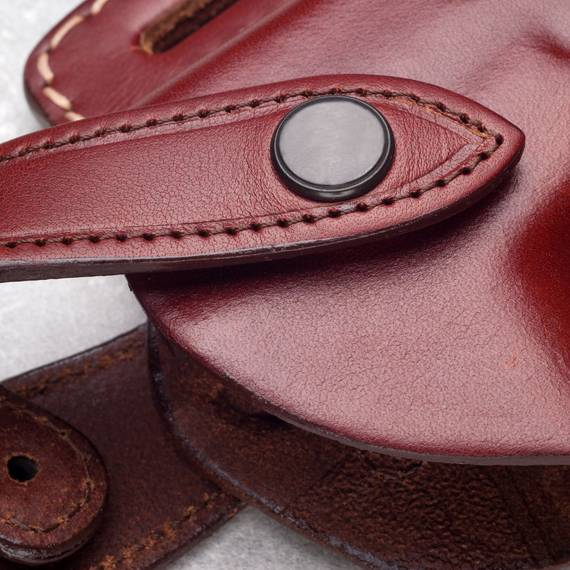 Opened Muzzle Leather Belt Holster