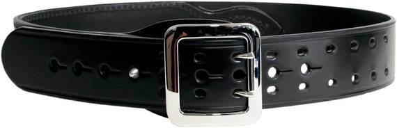Reinforced Leather Duty Belt, 2 Inch