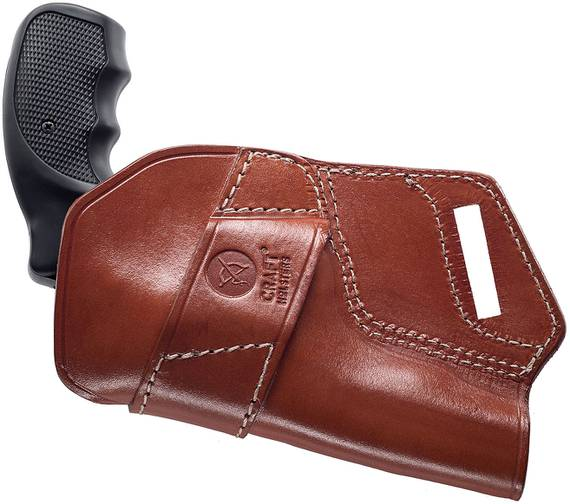 Small Of Back Leather Holster - Grizzly
