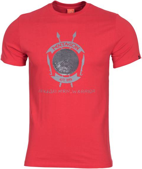 Tactical T-Shirt Lakedaimon Warrior - Lava Red