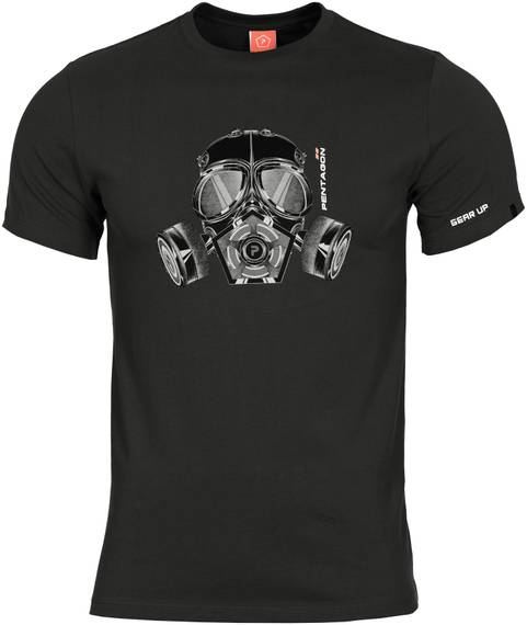 Tactical T-Shirt w. Gas Mask - Black