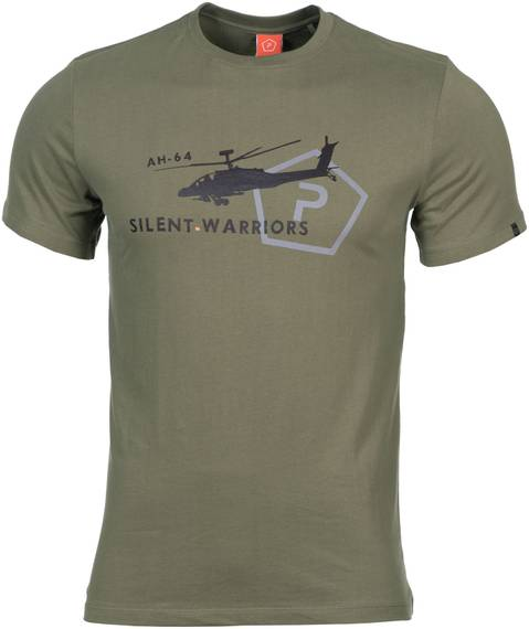 Tactical T-Shirt w. Helicopter - Olive
