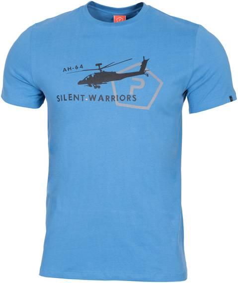 Tactical T-Shirt w. Helicopter - Pacific Blue