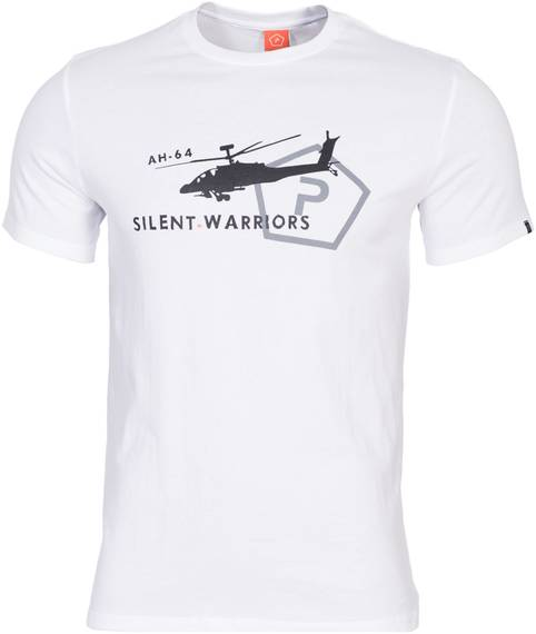 Tactical T-Shirt w. Helicopter - White