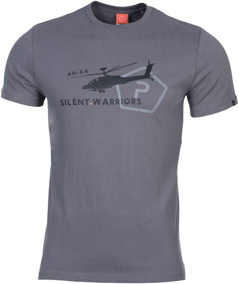 Tactical T-Shirt w. Helicopter - Wolf Gray