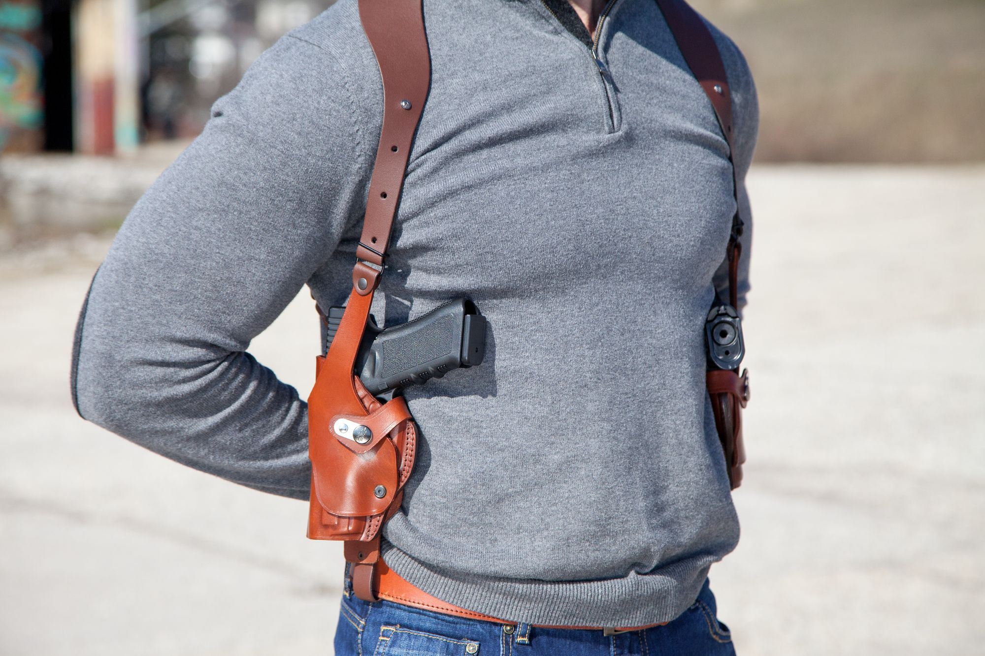 Double Vertical Roto Shoulder Holster - Craft Holsters®