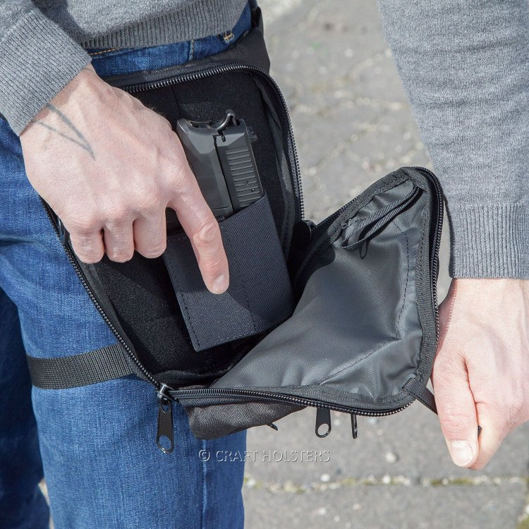 Leg Bag for Concealed Gun Carry - Craft Holsters®