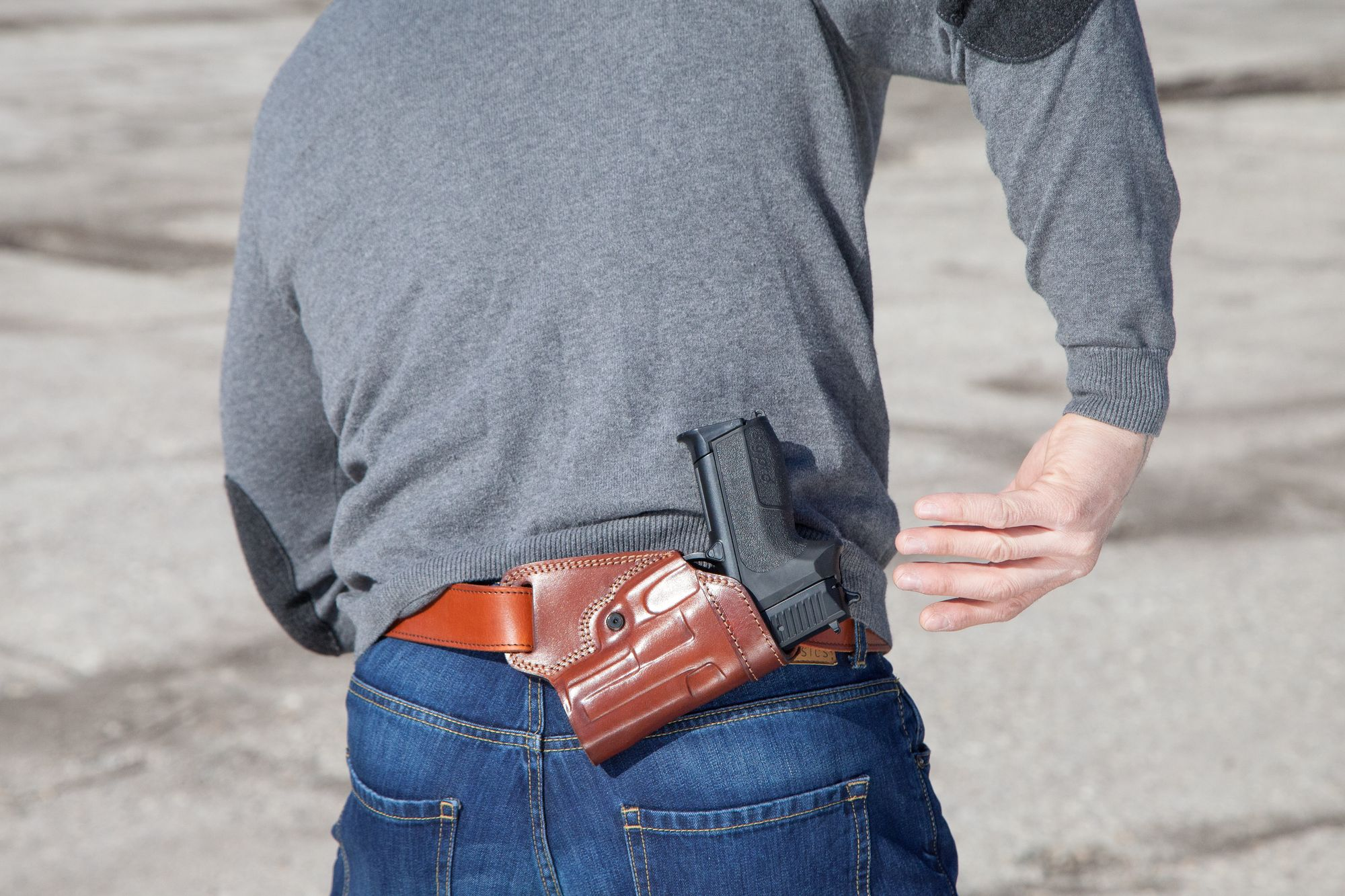 SOB (Small of Back) Leather Belt Holster - Craft Holsters®