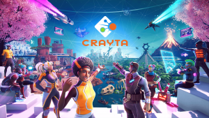 Crayta characters encouraging the viewer to enter the varied and fantastical world behind them