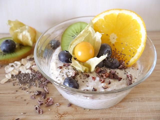Semillas de chía en yogurt