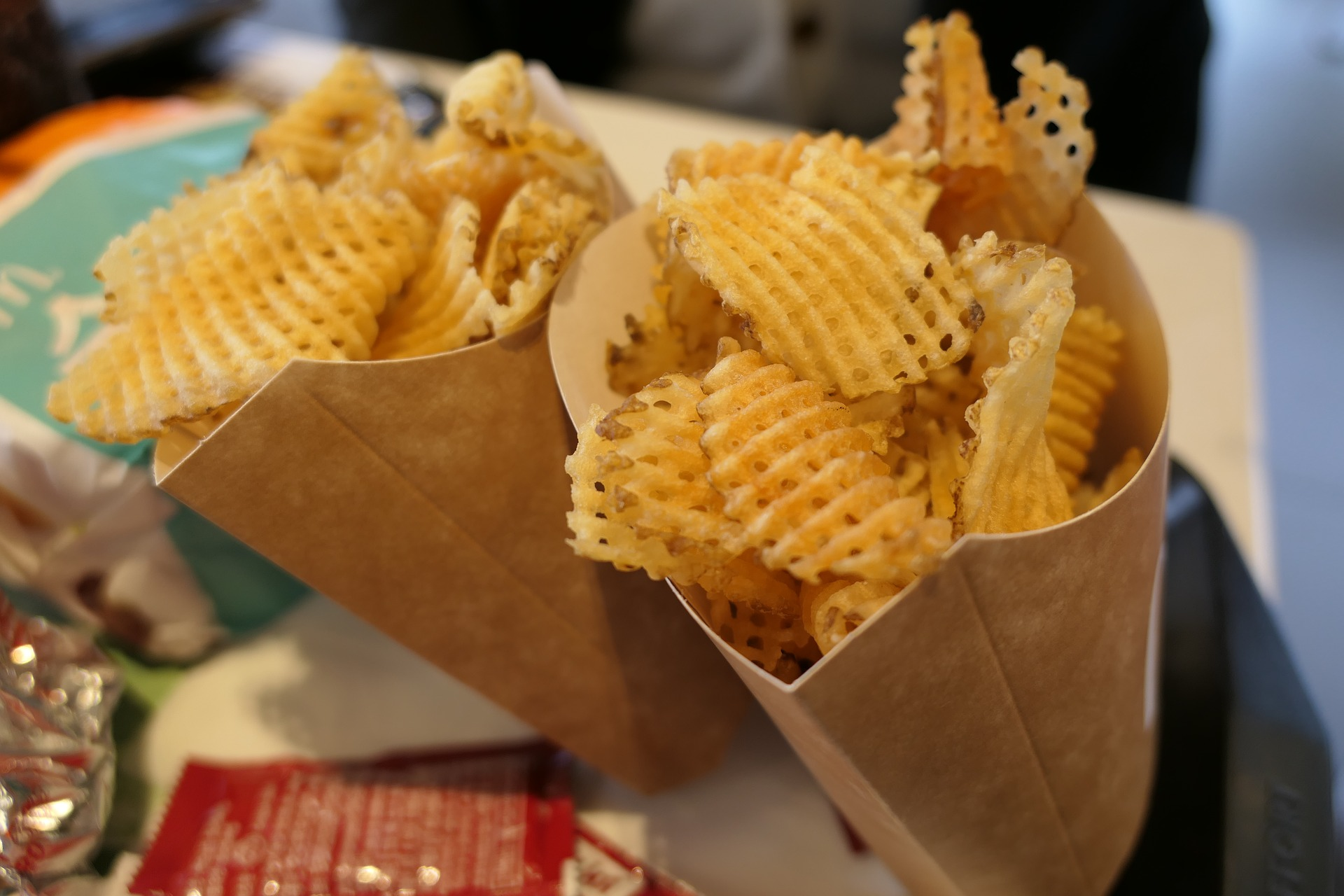 Alimentos procesados, patatas fritas