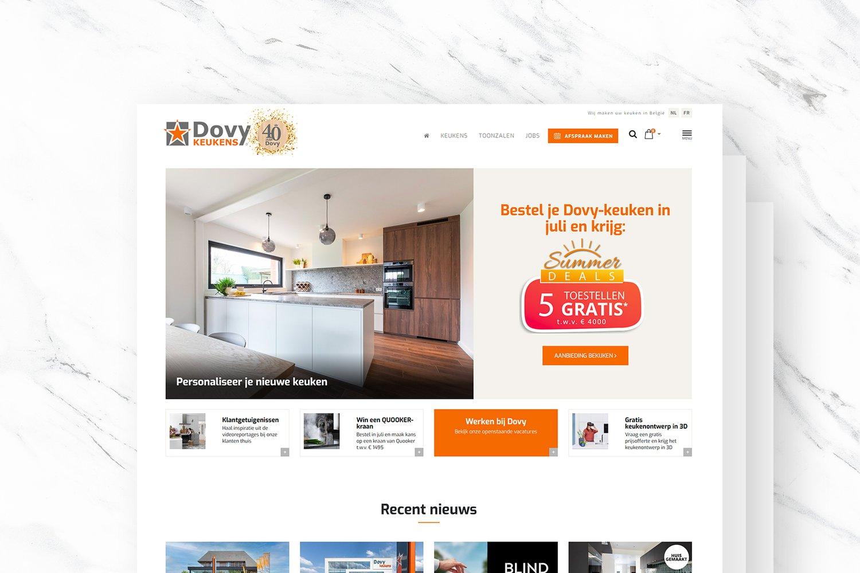 Dovy Keukens website