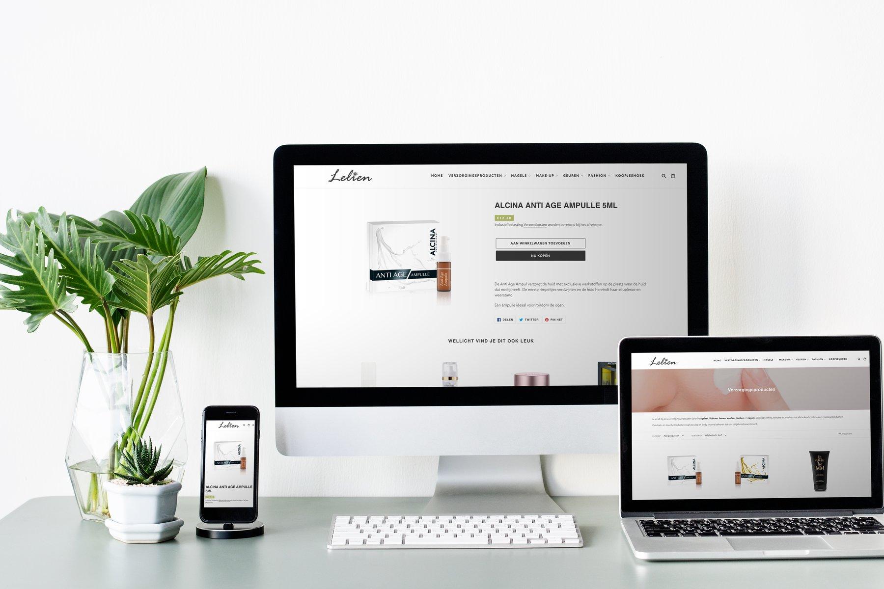 Lelien webshop Shopify