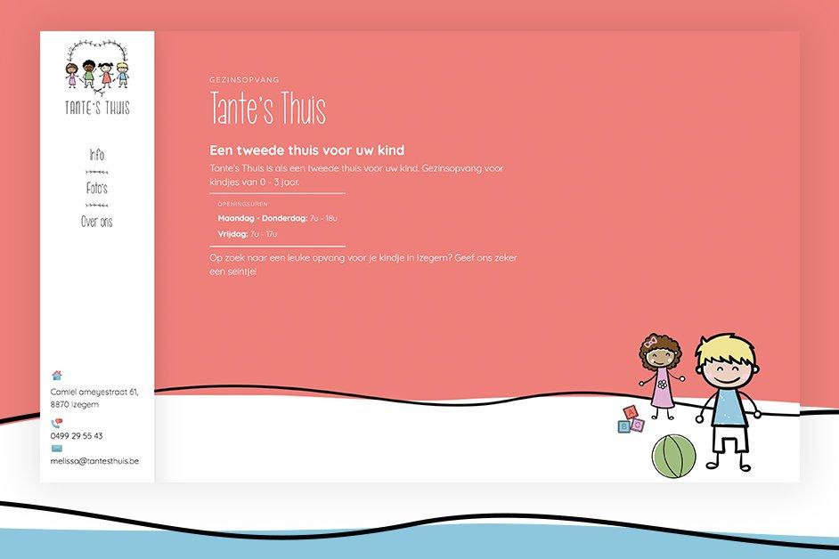 Tante's Thuis website op maat